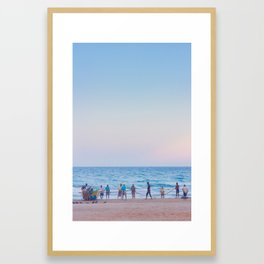 Fishermen by Sunset Framed Art Print