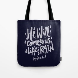 Hosea 6: 3 x Navy Tote Bag