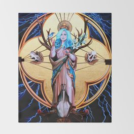 Ecos of Thunder Painting Throw Blanket