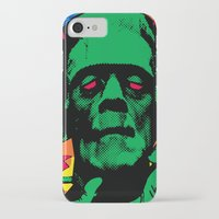 frankenstein iPhone & iPod Cases featuring Frankenstein by Sellergren Design - Art is the Enemy