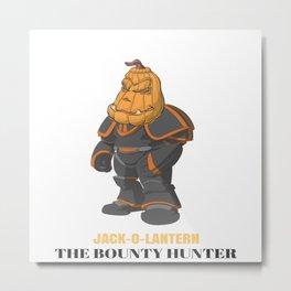JACK-O-LANTERN The Bounty Hunter Metal Print