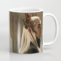 thranduil Mugs featuring Thranduil by Julia Bland