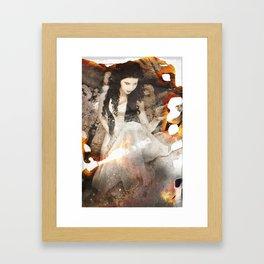 Vampires On Old Film Framed Art Print