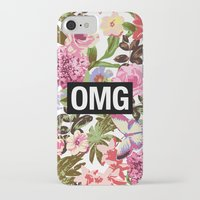 2pac iPhone & iPod Cases featuring OMG by Text Guy