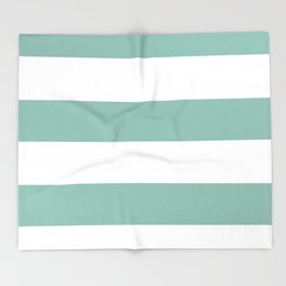 Maine Ocean Cabana Stripes Throw Blanket