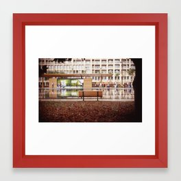 Lonely Bench Framed Art Print