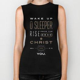 Wake Up O Sleeper Ephesians Bible Verse Typography Biker Tank