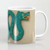 snake Mugs featuring Snake  by Abundance