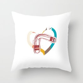 Love Boomerang Sports Athlete Competitive Sports Athletic Gifts Throw Pillow