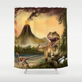 Predator Dinosaurs Shower Curtain