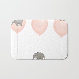 Elephant, globe and mouse Bath Mat