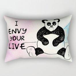 Angry Panda Rectangular Pillow