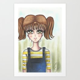 Farm Girl Art Print