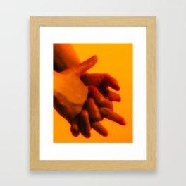 Hands 2 of 2 (Heavy Grain) Framed Art Print