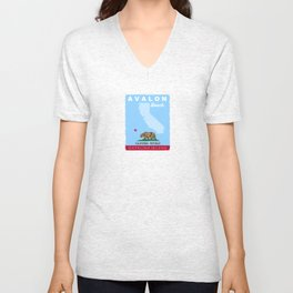 Catalina Island.  Unisex V-Neck