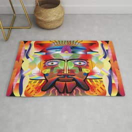 Viking Robot Insect Creature Rug