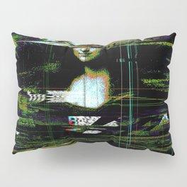 Mona Lisa Glitch Pillow Sham