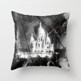 Paris - Basilique du Sacré Cœur Throw Pillow