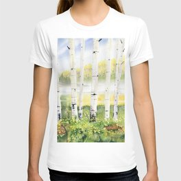 Behind The Birch Trees T-shirt