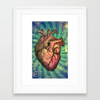 anatomical heart Framed Art Prints featuring Anatomical heART by Li9z