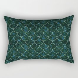 Murky Mermaid Scales Rectangular Pillow