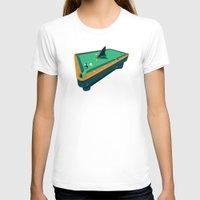 pool T-shirts featuring Pool shark by Jonah Makes Artstuff
