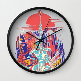 Smash! Zap!! Zooom!! - Generic Spacecraft Wall Clock