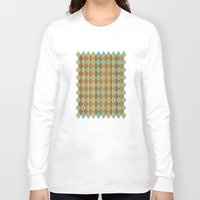 wooden Long Sleeve T-shirts featuring Wooden Mint  by Louise Machado