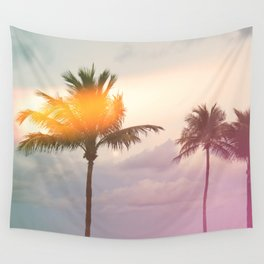 Palm Trees on the Beach Wall Tapestry