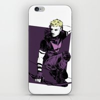 clint barton iPhone & iPod Skins featuring Clint Barton by The Radioactive Peach