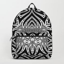 Black & White Tribal Symmetry Backpack