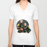 pacific rim V-neck T-shirts featuring pacific rim by chazstity