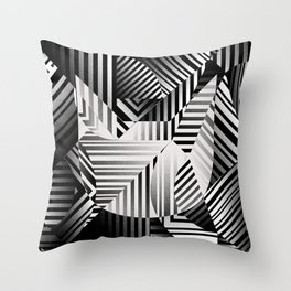 Dazzle cat Throw Pillow