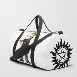 Chibi Dean Winchester (White BG) Duffle Bag