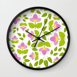 Simply Lilac Flowers Wall Clock