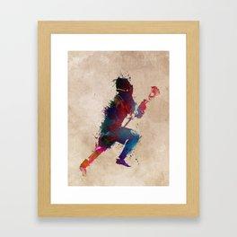 Lacrosse player art 1 Framed Art Print