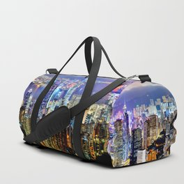 Hong Kong City Skyline Duffle Bag