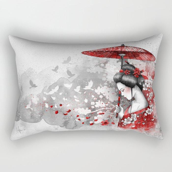 Falling blossoms Rectangular Pillow