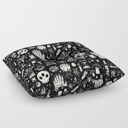 Curiosities: Bone Black Floor Pillow