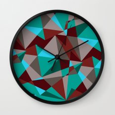 Triangle cubes Wall Clock