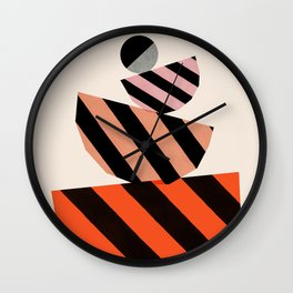 Abstraction_COLOR_BLOCKS_STRIPE_001 Wall Clock