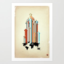 "Glue Network Print Series ""Economic Development"" Art Print"