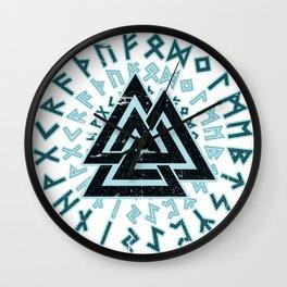 Valknut   Viking Warrior Symbol Triangle Wall Clock