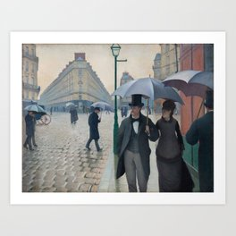 Paris Street; Rainy Day,  1877, Gustave Caillebotte Art Print