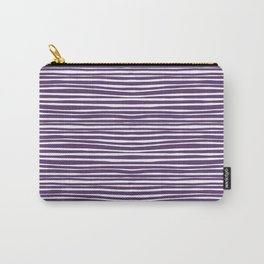 Small Geometry - Purple Lines Carry-All Pouch