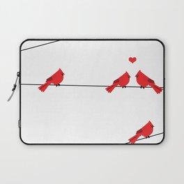 Red birds - winter talk Laptop Sleeve