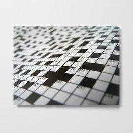 Crossword Metal Print