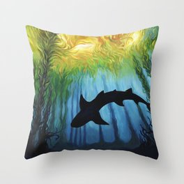 Kelp Forest II Throw Pillow