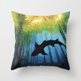 Kelp Forest II Throw Pillow