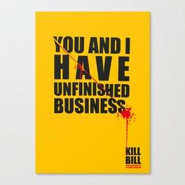 Kill Bill Minimal Poster 2.0 Canvas Print